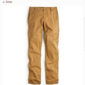 JCrew stretch chino in honey